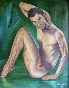 The Dancer Maurice Bouskila 30x38 Oil on Canvas Private Collection Limited Edition of 20 $430